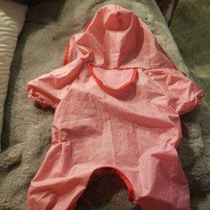 Size small pink dog raincoat